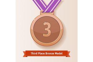 Third place award bronze medal