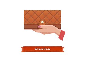 Woman leather purse