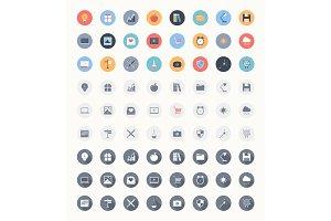 Universal flat icons