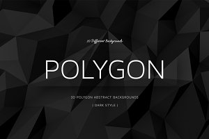 Polygon Dark Backgrounds | v3