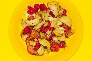 Happy food Yellow Art.