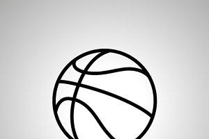 Basketball ball simple black icon