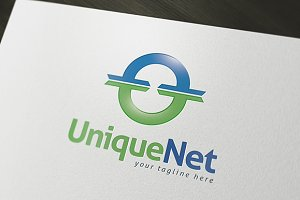 Unique Net Logo Template