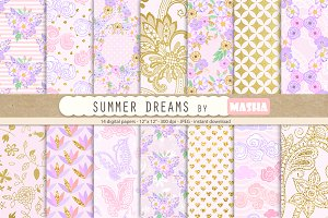SUMMER DREAMS digital papers