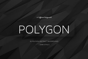 Polygon Dark Backgrounds | v4