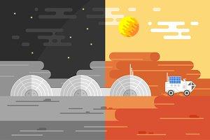 Mars & Moon base