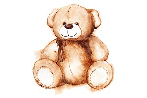 Cartoon Teddy Bear toy isolated