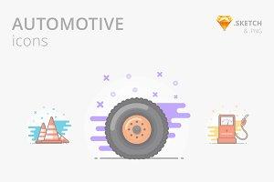 10 Automotive Icons Pack