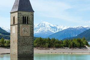 Reschensee (Italy).