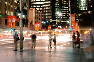 Sydney Street Intersection at night