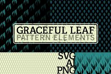 Vector/Bitmap Graceful Leaf Patterns