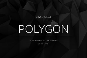 Polygon Dark Backgrounds | v10