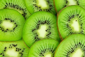 Bright background of kiwi