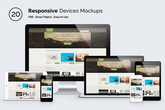 Download Responsive Screen Mockup Devices