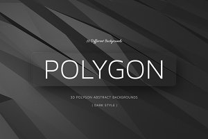 Polygon Dark Backgrounds | v11