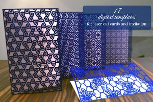 17 digital templates for laser cut.