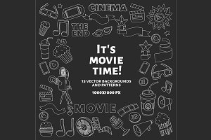It's movie time! Linear vector set