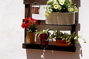 pots in andalusian modern patio