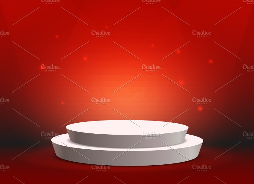 empty template of white round podium graphic objects creative market