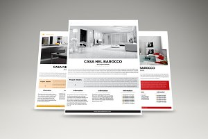 Clear and simple real estate flyer