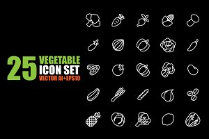 vegetables vector set