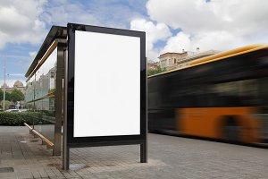blank bus stop transportation photos creative market