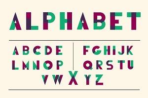 Ovender - vintage vector alphabet
