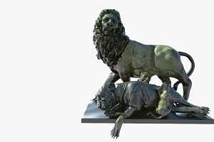 Statue of Lion Family
