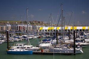 Yachts Moored At Brighton Marina