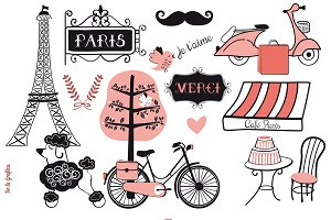 Paris Doodles Set