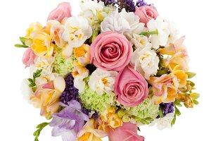 Bouquet seen from above