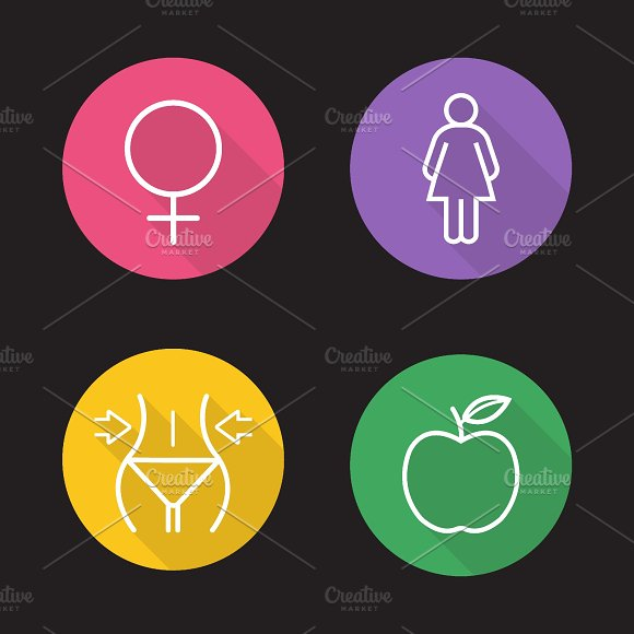 Weight loss dies icons. Vector - Icons