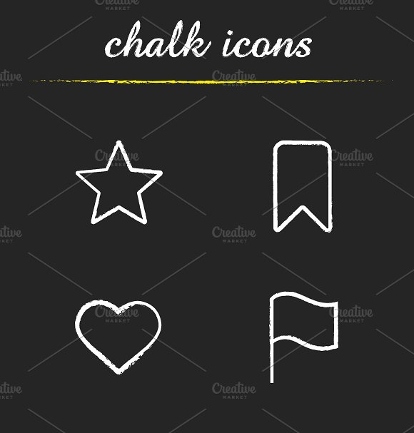 Tags and marks icons. Vector - Icons