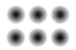 Round halftone screen patterns