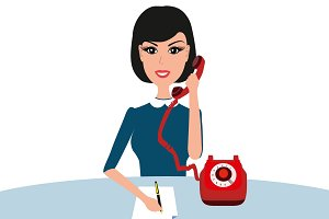 Businesswoman woman talking phone