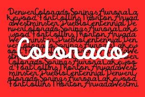 Colorado — Script Font