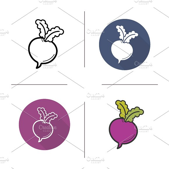 Beetroot icons. Vector - Icons