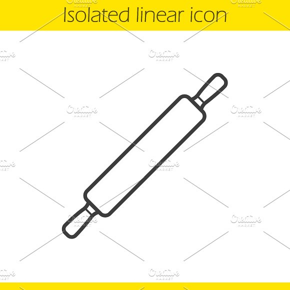 Rolling pin icon. Vector - Icons