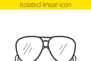 Sunglasses icon. Vector