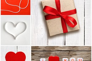 Valentine's day collage of photos