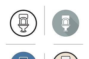 Toilet icons. Vector