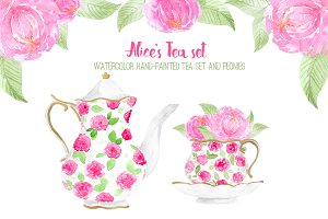 Alice's Tea set