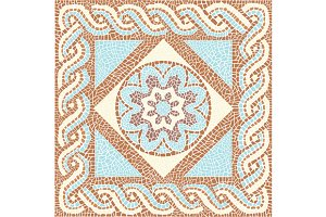 Vector seamless mosaic antique style