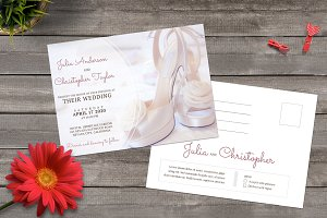Standart Wedding Invitation postcard