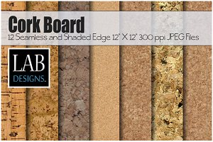 12 Cork Board Background Textures