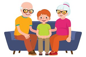 Family portrait a grandparents