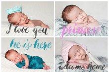 Newborn Photography Words Overlays