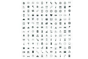 Large icon set on various topics