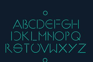 Simple minimalistic font vector