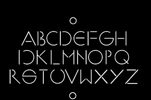 Simple and minimalistic font vector